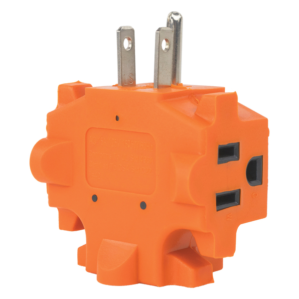 Axis(TM) YLCT-10 3-Outlet Heavy-Duty Grounded Adapter