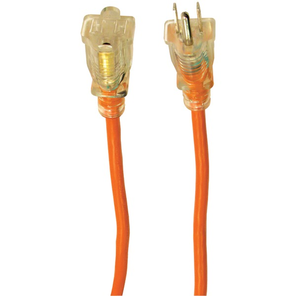 Axis(TM) 45510 1-Outlet Orange Indoor/Outdoor Grounded Workshop Extension Cord, 100ft