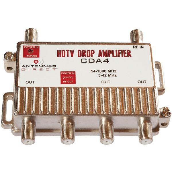 Antennas Direct(R) CDA4 Output TV/CATV Distribution Amp (4 Way)