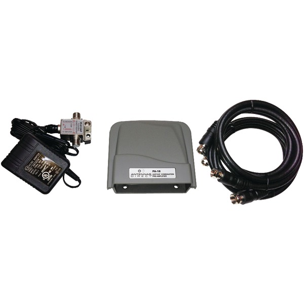 Antennas Direct(R) PA18 Ultra-Low-Noise UHF/VHF Preamp Kit