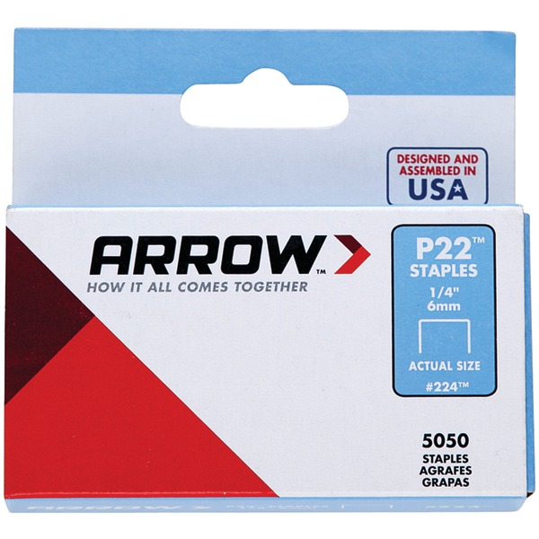 "Arrow(R) 224 Plier Staples, 5,000 pk (1/4"")"