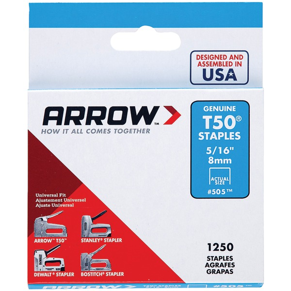 "Arrow(R) 50524 T50(R) Staples, 1,250 pk (5/16"")"