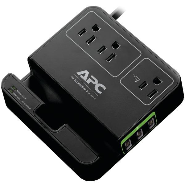 APC(R) P3U3B 3-Outlet SurgeArrest(R) Surge Protector with 3 USB Ports (Black)