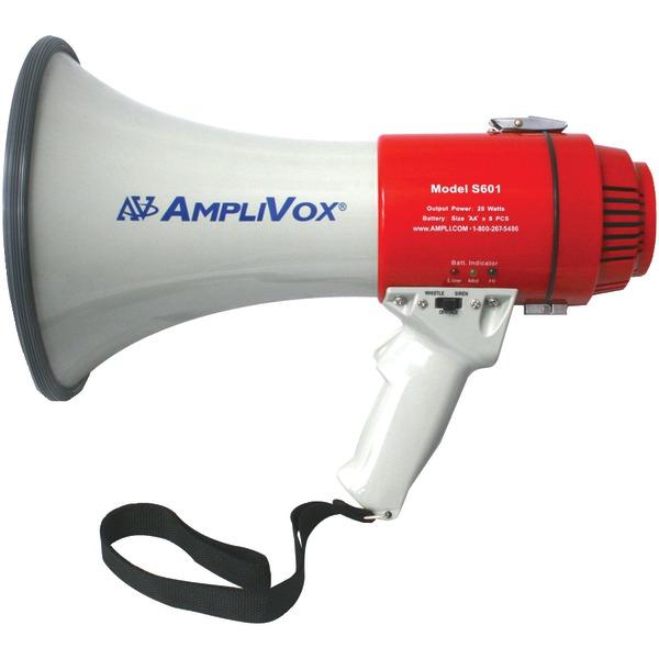 AmpliVox(R) S601R Mity-Meg 15-Watt Megaphone (Li-Ion Compatible)