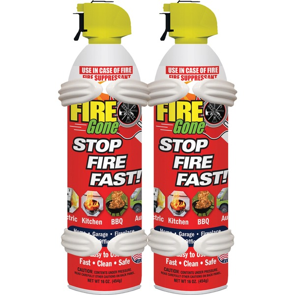Fire Gone(R) 2-FG-7209 Fire Suppressants with Bracket, 2 pk