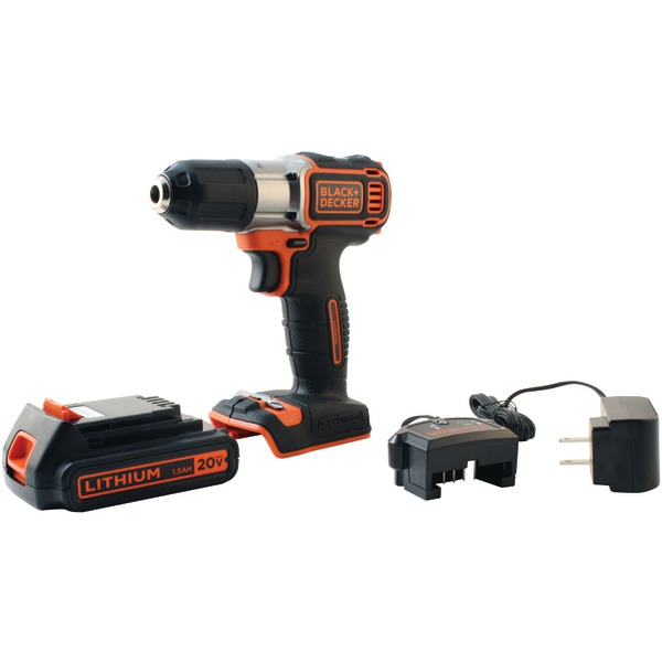 BLACK+DECKER? BDCDE120C 20-Volt MAX* Lithium DRILL/Driver with AutoSense? Technology