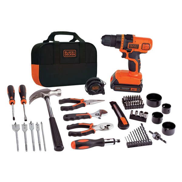 BLACK+DECKER(TM) LDX120PK 20-Volt MAX* Lithium Drill/Driver & 68-Piece Project Kit