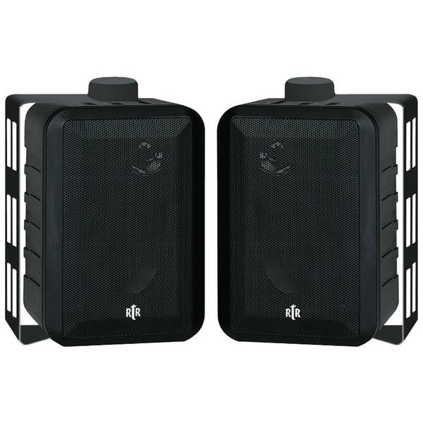 """BIC America RTRV44-2 4"""" RtR Series 3-Way Indoor/Outdoor Speakers (Black)"""