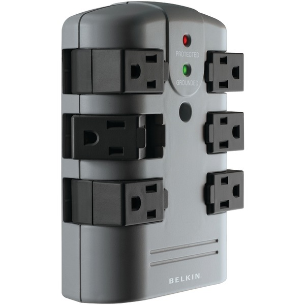 Belkin(R) BP106000 6-Outlet Pivot-Plug Surge Protector Wall Tap
