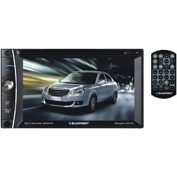 "Blaupunkt(R) MMP440BT MEMPHIS 440 BT 6.2"" Double-DIN In-Dash DVD Receiver with Bluetooth(R)"