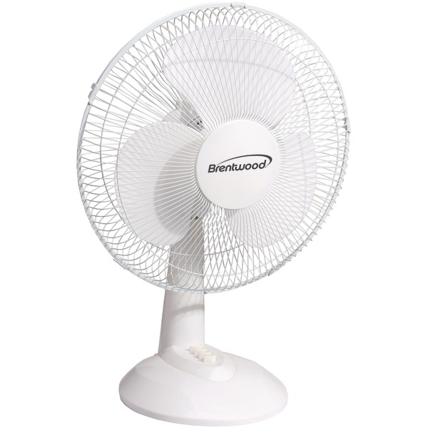 "Brentwood Kool Zone F-12DW 12"" Oscillating Desk Fan"