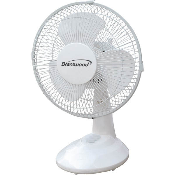 "Brentwood Kool Zone F-9DW 9"" Oscillating Desk Fan"