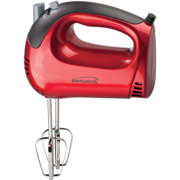 Brentwood(R) Appliances HM-46 5-Speed Electric Hand Mixer (Red)