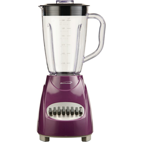 Brentwood(R) Appliances JB-220PR 50-Ounce 12-Speed + Pulse Electric Blender with Plastic Jar (Purple)