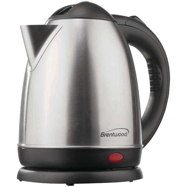 Brentwood(R) Appliances KT-1780 1.5-Liter Stainless Steel Cordless Electric Kettle (Brushed Stainless Steel)