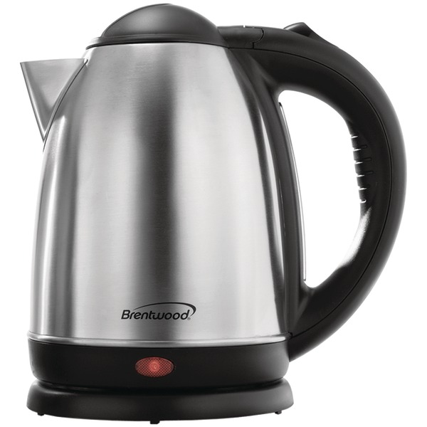 Brentwood(R) Appliances KT-1790 1.7-Liter Stainless Steel Cordless Electric Kettle (Brushed Stainless Steel)