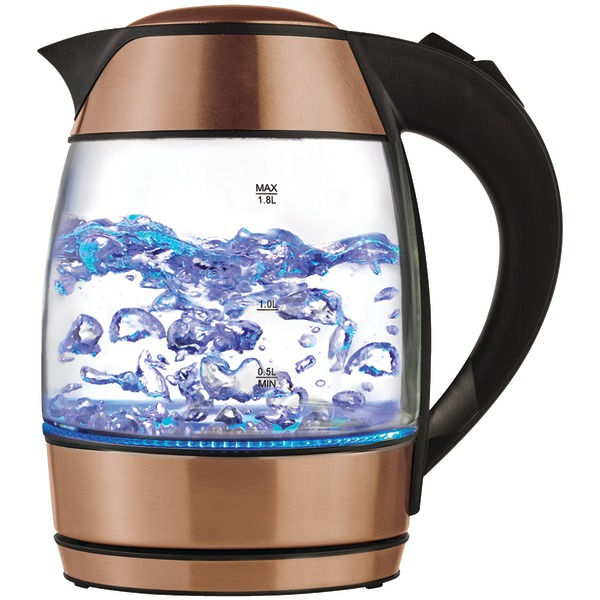 Brentwood(R) Appliances KT-1960RG 1.8-Liter Cordless Glass Electric Kettle with Tea Infuser