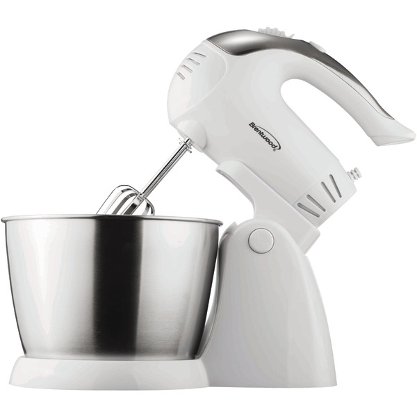 Brentwood(R) Appliances SM-1152 5-Speed + Turbo Electric Stand Mixer with Bowl (White)