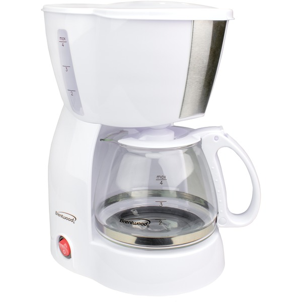 Brentwood(R) Appliances TS-213W 4-Cup Coffee Maker (White)