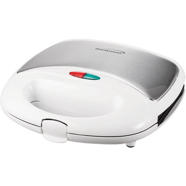 Brentwood(R) Appliances TS-240W Nonstick Compact Dual Sandwich Maker (White)