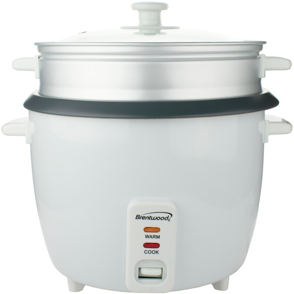 Brentwood(R) Appliances TS-380S Rice Cooker with Steamer (10 Cups, 700 Watts)