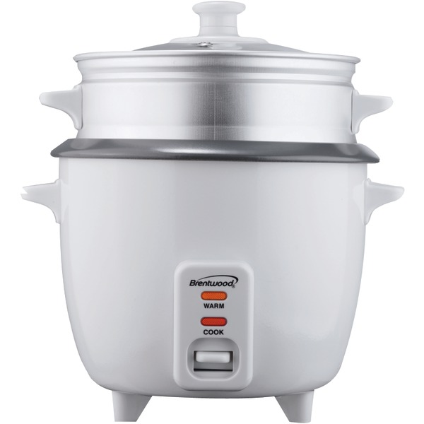 Brentwood(R) Appliances TS-600S Rice Cooker with Food Steamer (5 Cups, 400 Watts)