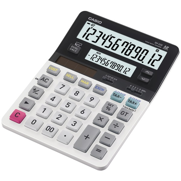 CASIO(R) DV-220 Dual Display Desktop Solar Calculator