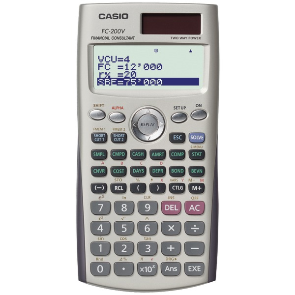 CASIO(R) FC-200V Financial Calculator