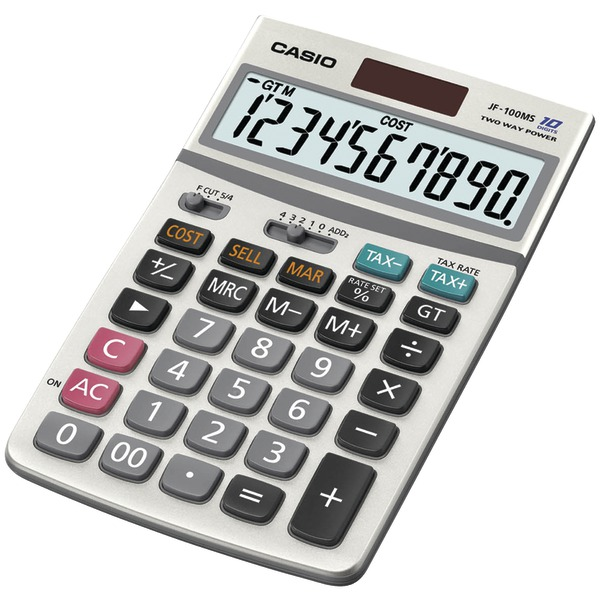 CASIO(R) JF100MSSIH Solar Calculator