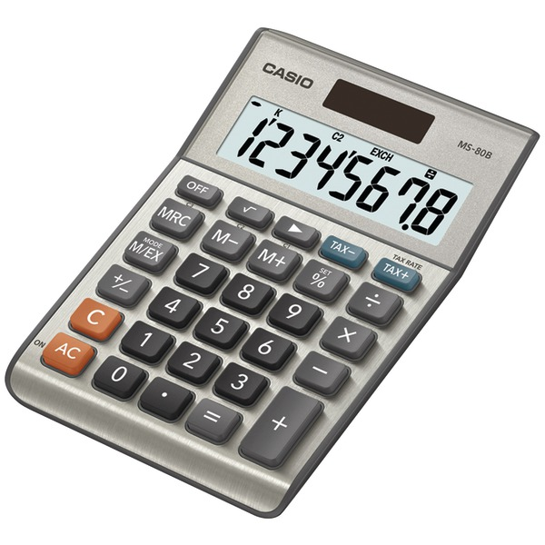CASIO(R) MS80SSIH Solar Desktop Calculator with 8-Digit Display