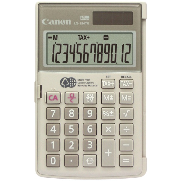 Canon(R) LS-154TG 12-Digit Handheld Calculator