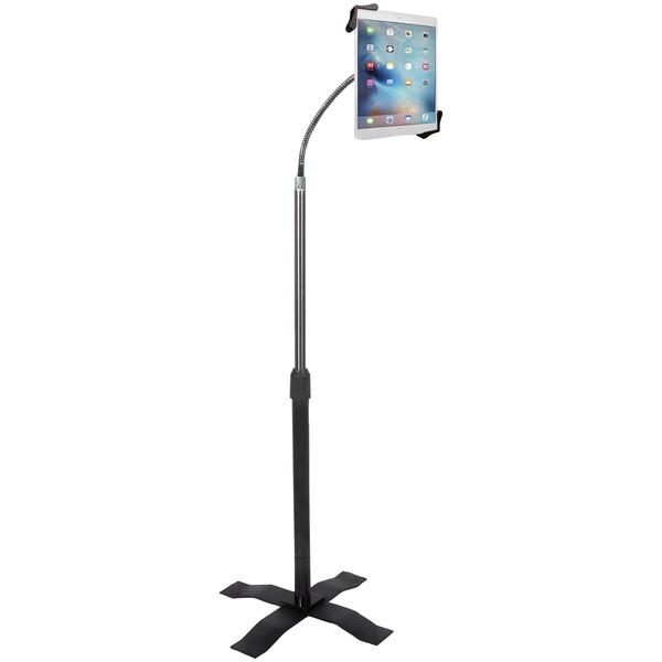 "CTA Digital PAD-AFS Height-Adjustable Gooseneck Floor Stand for 7""-13"" Tablets"