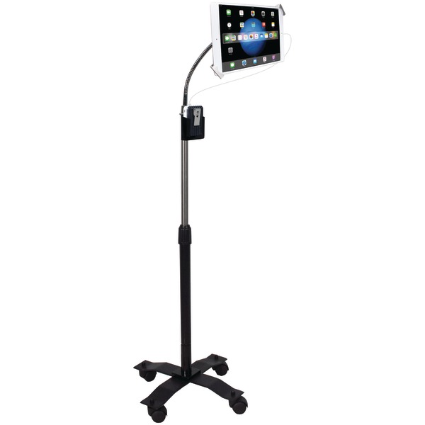 CTA Digital PAD-SCGS Compact Security Gooseneck Floor Stand with Lock & Key Security System for iPad(R)/Tablet