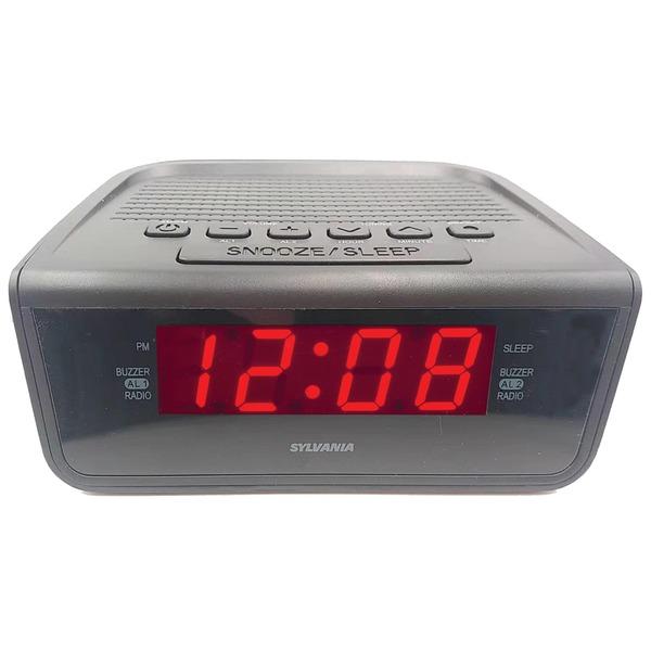SYLVANIA(R) SCR1388 AM/FM Alarm Clock Radio