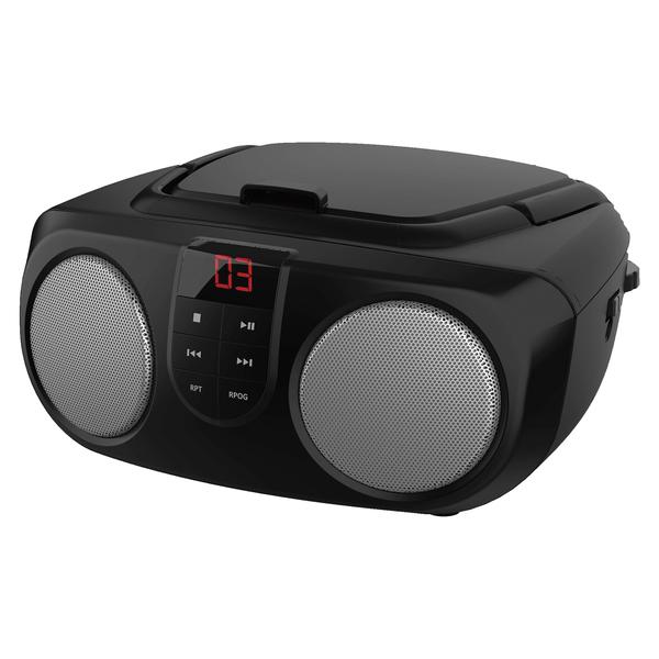 SYLVANIA(R) SRCD243M BLACK Portable CD Boom Boxes with AM/FM Radio (Black)