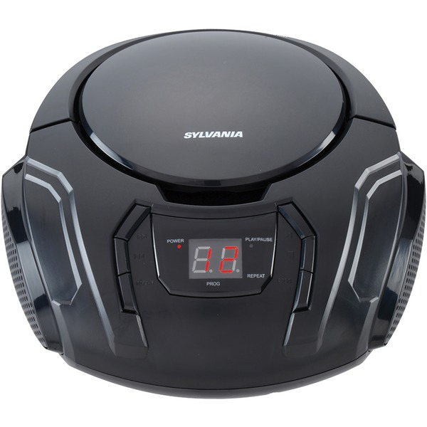 SYLVANIA(R) SRCD261-B-BLACK Portable CD Player with AM/FM Radio (Black)