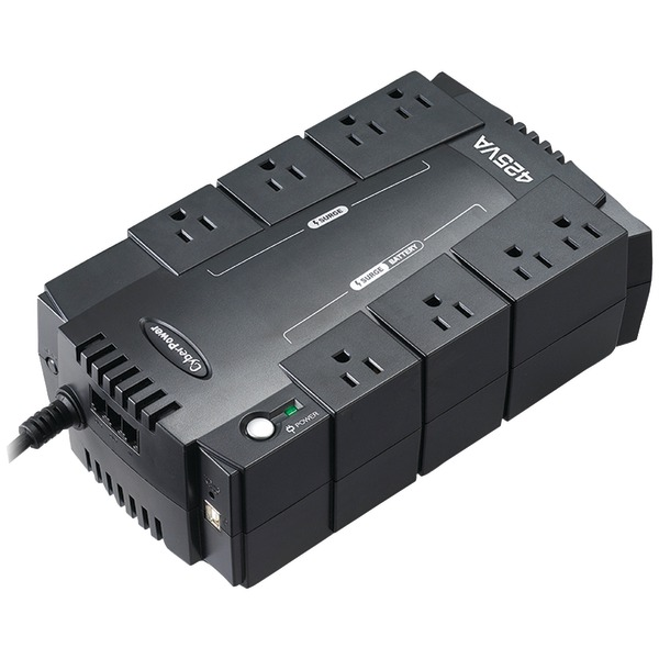 CyberPower(R) CP425SLG 8-Outlet Standby UPS System ($75,000 connected equipment guarantee)