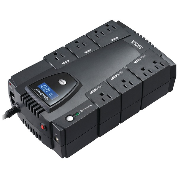CyberPower(R) CP600LCD 8-Outlet Intelligent LCD UPS System