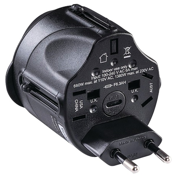 CyberPower(R) TRA1A2 All-in-One Travel Adapter Plug