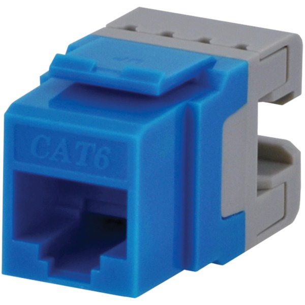 DataComm ELECTRONICS 20-3426-BL-10 CAT-6 Jacks, 10 Pack (Blue)