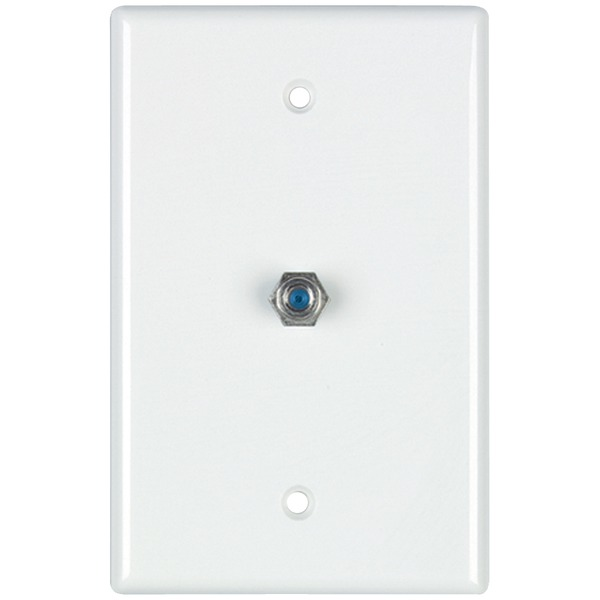 DataComm Electronics 32-2024-WH 2.4GHz Coaxial Wall Plate (White)