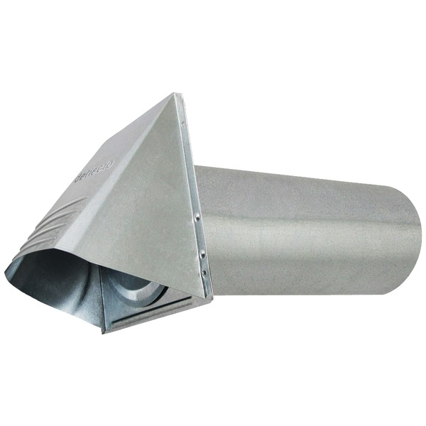 """Deflecto(R) GVH4 4"""" Wide-Mouth Galvanized Vent Hood"""