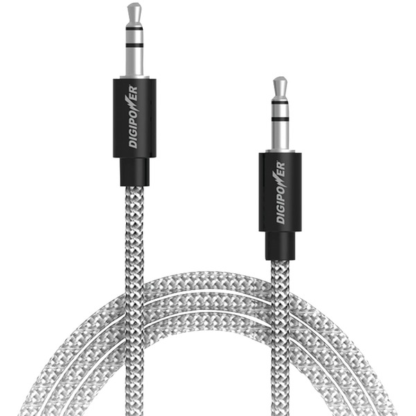 DIGIPOWER(R) SP-AFX Tangle-Free Braided Auxiliary Cable, 3ft