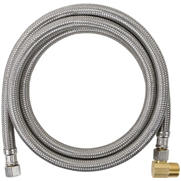 Certified Appliance Accessories(R) DW48SSBL Braided Stainless Steel Dishwasher Connector with Elbow, 4ft