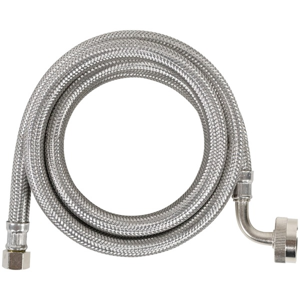 Certified Appliance Accessories(R) DW48SSL Braided Stainless Steel Dishwasher Connector with Elbow, 4ft