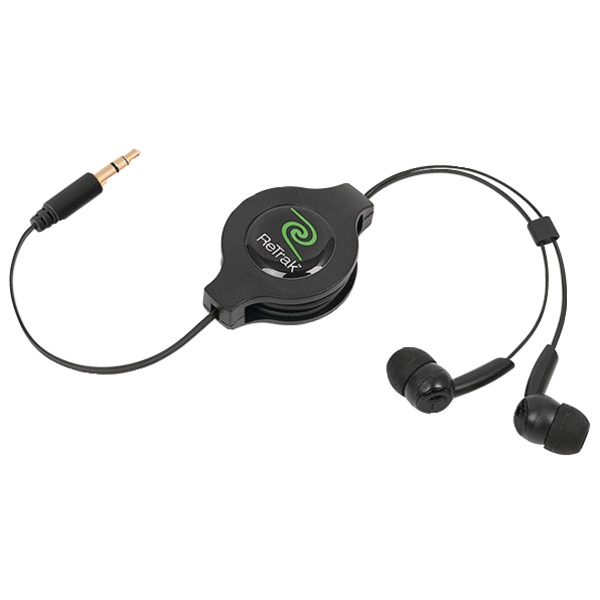 ReTrak(R) ETESBUD Earbuds with Retractable Cord