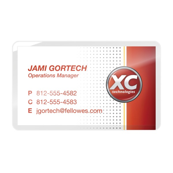 Fellowes(R) 52031 Business Card Laminating Pouches, 100 pk