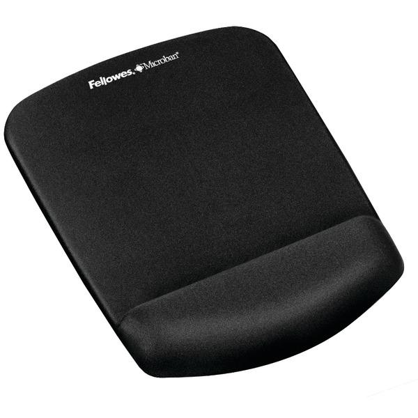 Fellowes(R) 9252001 PlushTouch(TM) Mouse Pad Wrist Rest with FoamFusion(TM) (Black)