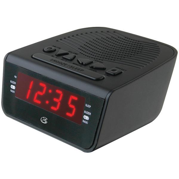 """GPX(R) C224B .6"""" LED AM/FM Alarm Clock"""
