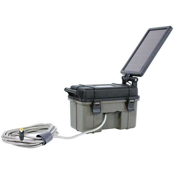 HME(TM) HME-12VBBSLR 12-Volt Battery Box with 2-Watt Solar Panel